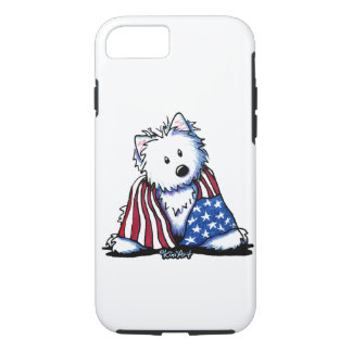 KiniArt Patriotic Westie iPhone 7 Case