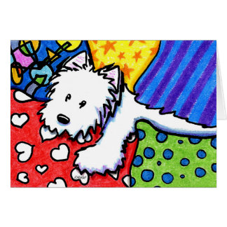 KiniArt Pillow Pile Westie Card