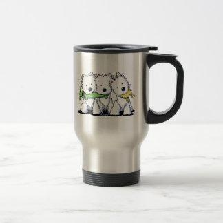 KiniArt Playful Westie Trio Travel Mug