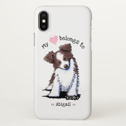 iPhone X Case with Australian Shepherd Phone Cases design