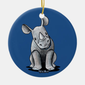 KiniArt Rhino Ceramic Ornament