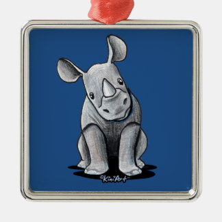 KiniArt Rhino Metal Ornament
