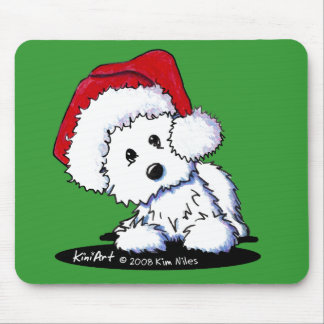KiniArt Santa Baby Westie Dog Gifts Mouse Pad