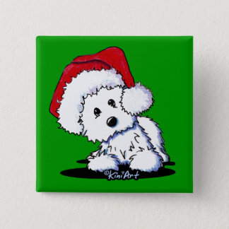KiniArt Santa Baby Westie Dog Pin