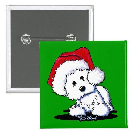 KiniArt Santa Baby Westie Dog Pin