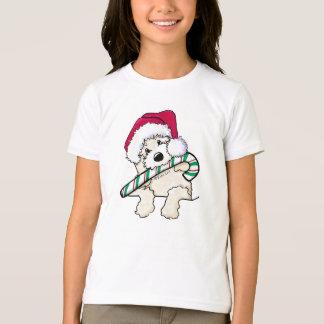 KiniArt Santa Doodle With Candycane T-Shirt