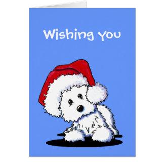 KiniArt Santa Westie Dog Christmas Cards