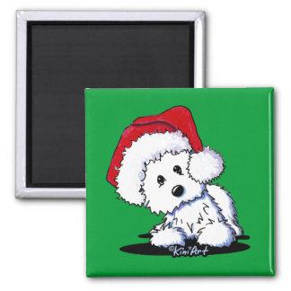 KiniArt Santa Westie Dog Magnet