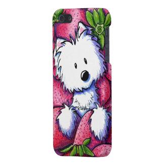 KiniArt Strawberries Westie iPhone 5 Cases