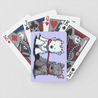 KiniArt Terrier Walking Buddies Bicycle Playing Cards