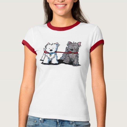 KiniArt Terrier Walking Buddies T-Shirt
