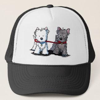 KiniArt Terrier Walking Buddies Trucker Hat