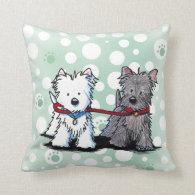 KiniArt Terriers American MoJo Pillows