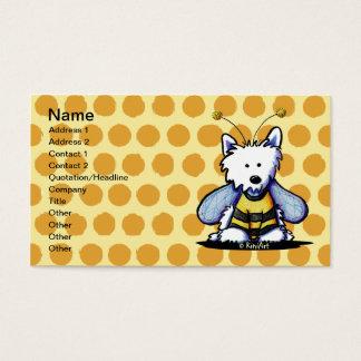 KiniArt Westie Bee Business Card Template