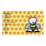 KiniArt Westie Bee Business Card Template
