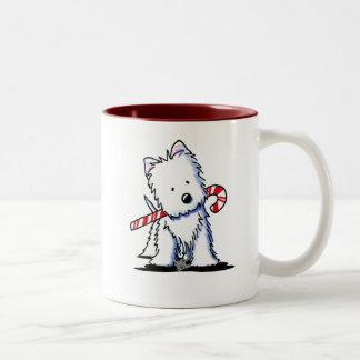 KiniArt Westie Candy Cane Cutie Mug