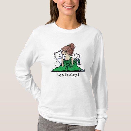 KiniArt Westie Christmas Kisses T-Shirt