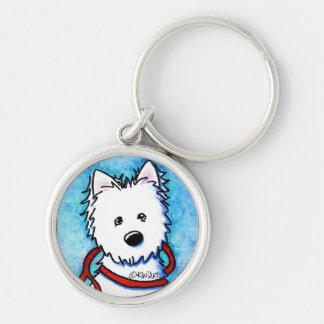 KiniArt Westie Dog Painting Key Chain