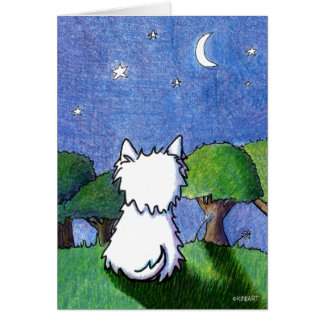 KiniArt Westie Dog Pet Loss Sympathy Card