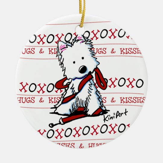 KiniArt Westie Dog XOXO Ornament