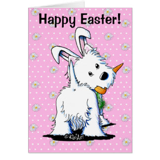 KiniArt Westie Easter Bummy Card