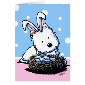 KiniArt Westie Easter Card