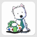 KiniArt Westie Fathers Day Gift Square Sticker