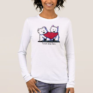 KiniArt Westie Heartfelt Duo Shirt