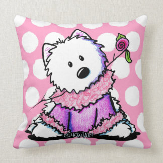 KiniArt Westie In Pink Pillows