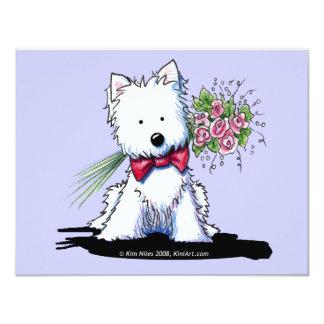 "KiniArt Westie Mr. Pawfect Flat Invitations 4.25"" X 5.5"" Invitation Card"