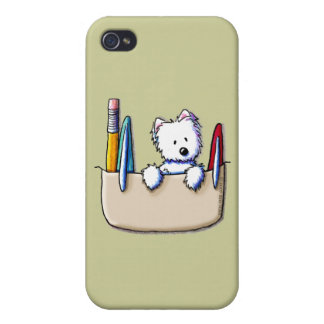 KiniArt Westie Pocket Protector iPhone 4 Case