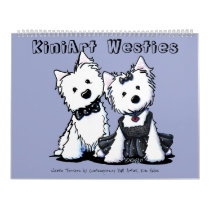 KiniArt Westie Terriers Calendar