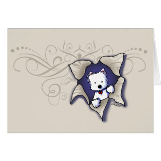 KiniArt Westie THANK YOU Card