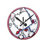 KiniArt Westie Time Clock