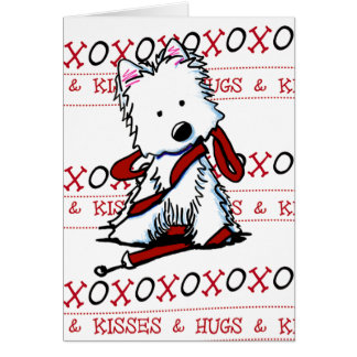 KiniArt Westie XOXO Greeting Card