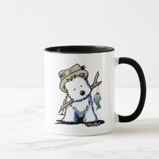KiniArtFishing Westie Mug