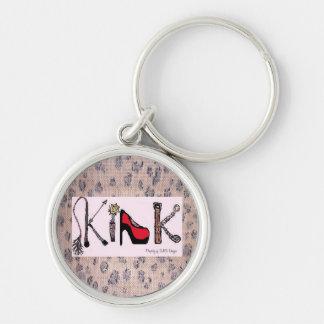 Kink Keys! Silver-Colored Round Keychain