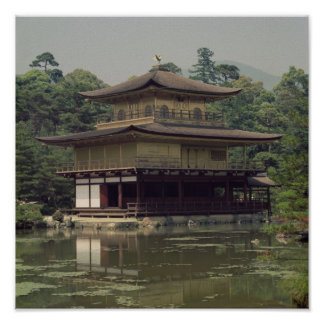 Kinkaku temple  dedicated to the memory print