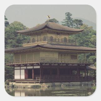 Kinkaku temple  dedicated to the memory square sticker