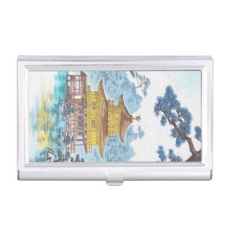 Kinkakuji Temple Kamei Tobei japanese scenery art Business Card Case