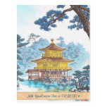 Kinkakuji Temple Kamei Tobei japanese scenery art Postcards