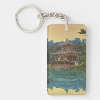 Kinkakuji Temple Yoshida Hiroshi shin hanga art Keychain