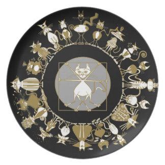 Kinky Mandala Black Plate