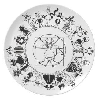 Kinky Mandala Plate - Kinky Kitty