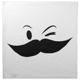 Kinky Mustache Cloth Napkin