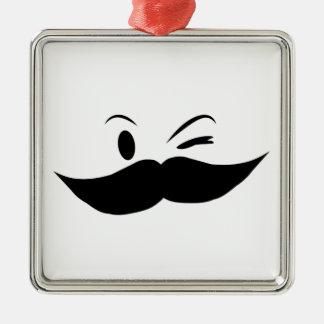 Kinky Mustache Metal Ornament