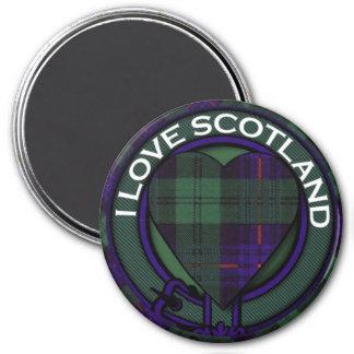 Kinmount clan Plaid Scottish kilt tartan 3 Inch Round Magnet