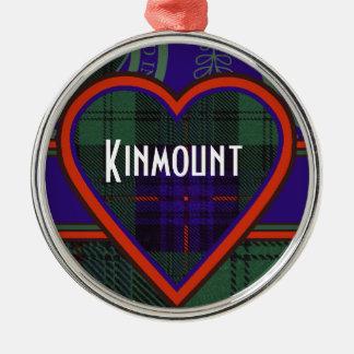 Kinmount clan Plaid Scottish kilt tartan Round Metal Christmas Ornament
