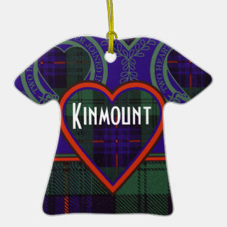 Kinmount clan Plaid Scottish kilt tartan Double-Sided T-Shirt Ceramic Christmas Ornament