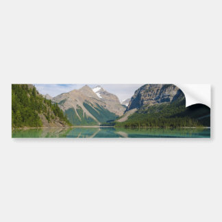 Kinney Lake and Mount Whitehorn near Mount Robson Bumper Stickers